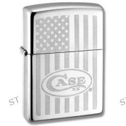 W R Case Sons Zippo Windproof Lighter w USA Flag Design Case Logo 50158