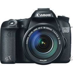 Canon EOS 70D DSLR Camera with 18-135mm Lens Deluxe Kit B&H