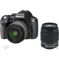 Pentax K-50 DSLR Camera with 18-55mm and 50-200mm Lenses 10905
