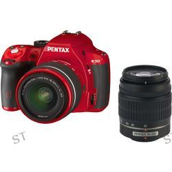 Pentax K-50 DSLR Camera with 18-55mm and 50-200mm Lenses 10997