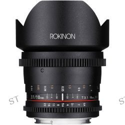 Rokinon 10mm T3.1 Cine DS Lens with Canon EF Mount DS10M-C B&H