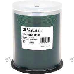 Verbatim CD-R 700MB 52x Diamond Silk-Screen Hub Printable 98480
