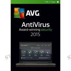 AVG AntiVirus 2015 (1-PC, 1-Year Subscription) AV15N12EN001 B&H