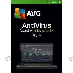 AVG AntiVirus 2015 (3-PCs, 2-Year Subscription) AV15N24EN003 B&H