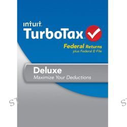 Intuit TurboTax Deluxe Federal + E-File 2013 423056 B&H Photo