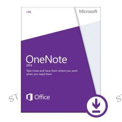 Microsoft Open License for OneNote 2013 (Download) S26-05396 B&H