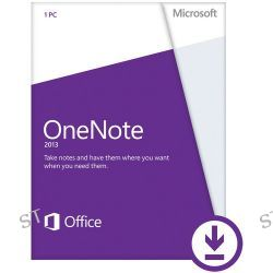 Microsoft OneNote 2013 Software (Electronic Download) AAA-01468