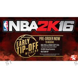Take-Two NBA 2K16 Early Tip Off Edition (PS3) 47629 B&H Photo