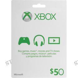 Microsoft $50 Xbox Gift Card (Xbox One & 360) K4W-00002 B&H