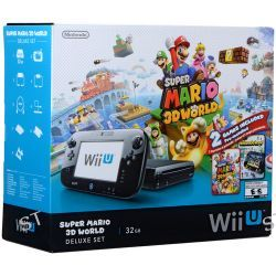 Nintendo Wii U Super Mario 3D Deluxe Set with 3 Games and B&H