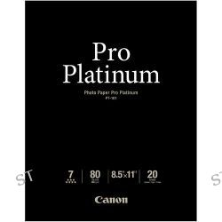 "Canon Pro Platinum Photo Paper 8.5 x 11"" 2768B022 B&H Photo"