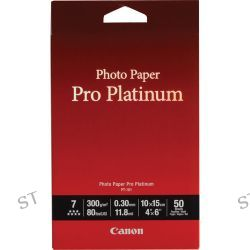 "Canon Pro Platinum Photo Paper 4 x 6"" (50 Sheets) 2768B014"