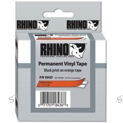"Dymo Rhino 1/2"" Orange Vinyl Labels (Black Print) 18435 B&H"