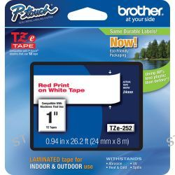 Brother TZe252 Laminated Tape for P-Touch Labelers TZE252 B&H