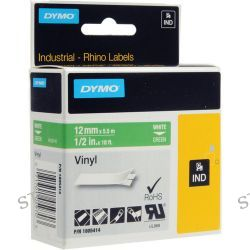 "Dymo Rhino 1/2"" Green Vinyl Labels (White Print) 1805414"