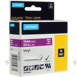 "Dymo Rhino 3/4"" Purple Vinyl Labels (White Print) 1805421"