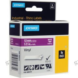 "Dymo Rhino 1/2"" Purple Vinyl Labels (White Print) 1805415"