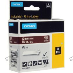"Dymo Rhino 1/2"" Brown Vinyl Labels (White Print) 1805412"