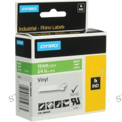 "Dymo Rhino 3/4"" Green Vinyl Labels (White Print) 1805420"