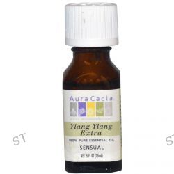 Aura Cacia, 100% Pure Essential Oil, Ylang Ylang Extra, .5 fl oz (15 ml)
