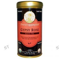 Zhena's Gypsy Tea, Organic, Black Tea, Gypsy Rose, 22 Sachets, 1.55 oz (44 g)