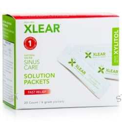 Xlear Inc (Xclear), Sinus Care Solution Packets, Fast Relief, 20 Count, 6 g Each