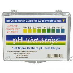 Vaxa International, pH Test Strips, 100 Strips