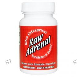 Ultra Glandular Enterprises, Raw Adrenal, 60 Easy-To-Swallow Tablets