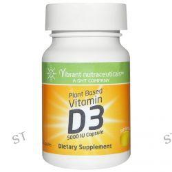 Vibrant Nutraceuticals, Vitamin D3, Plant Based, 5000 IU, 60 Capsules
