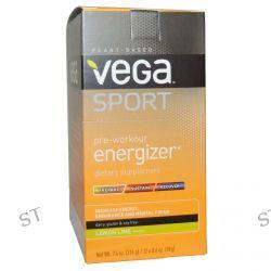 Vega, Sport, Pre-Workout Energizer, Lemon Lime, 12 Packs, 0.6 oz (18 g) Each