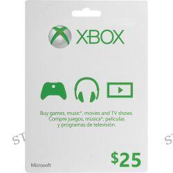 Microsoft $25 Xbox Gift Card (Xbox One & 360) K4W-00001 B&H