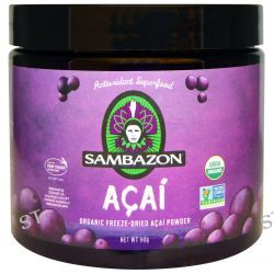 Sambazon, Acai, Organic Freeze-Dried Acai Powder, 90 g