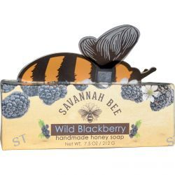 Savannah Bee Company Inc, Handmade Honey Soap, Wild Blackberry, 7.5 oz (212 g)