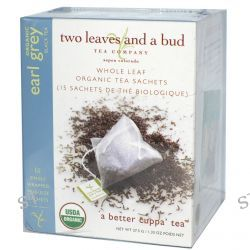 Two Leaves and a Bud, Organic Earl Grey Black Tea, 15 Sachets, 1.33 oz (37.5 g)