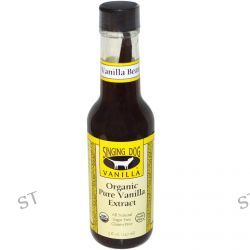 Singing Dog Vanilla, Organic Pure Vanilla Extract, Farm Grown , 5 fl oz (147 ml)