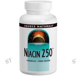 Source Naturals, Niacin 250, Time Released, 250 Tablets