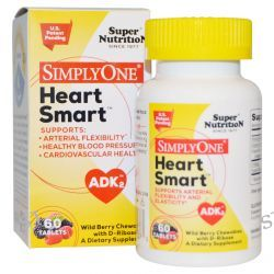 Super Nutrition, Heart Smart, Wild Berry Chewables with D-Ribose, 60 Tablets