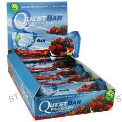 Quest Nutrition, QuestBar, Protein Bar, Mixed Berry Bliss, 12 Bars, 2.1 oz (60 g) Each