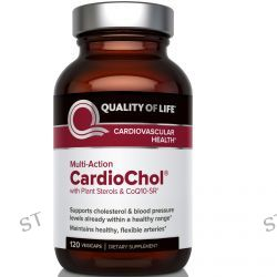 Quality of Life Labs, CardioChol with Plant Sterols & CoQ10-SR, Multi-Action 120 Veggie Caps