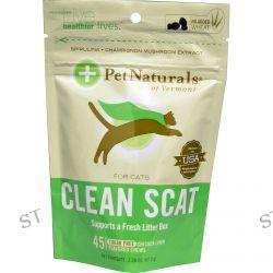 Pet Naturals of Vermont, Clean Scat for Cats, Chicken Liver Flavor, Sugar Free, 45 Chews, 2.38 oz (67.5 g)