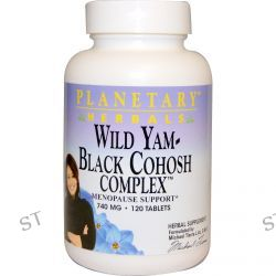 Planetary Herbals, Wild Yam - Black Cohosh Complex, 740 mg, 120 Tablets