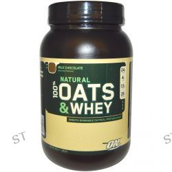 Optimum Nutrition, Natural 100% Oats & Whey Protein Shake, Milk Chocolate, 3.0 lb (1,363 g)
