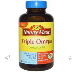 Nature Made, Triple Omega, 150 Liquid Softgels