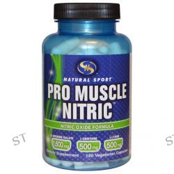 Natural Sport, Pro Muscle Nitric, Nitric Oxide Formula, 120 Veggie Caps