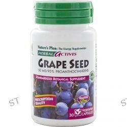 Nature's Plus, Herbal Actives, Grape Seed, 50 mg, 30 Veggie Caps
