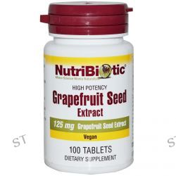 NutriBiotic, Grapefruit Seed, Extract, 125 mg, 100 Tablets