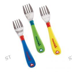 Munchkin, Toddler Forks, 12+ Months, 3 Pack, Multi-Colored Forks