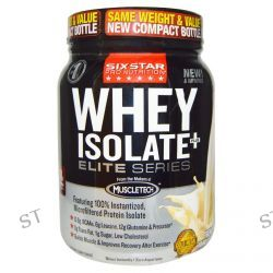 Muscletech, Six Star Pro Nutrition, Whey Isolate+Plus, Elite Series, French Vanilla Cream, 1.50 lbs (680 g)