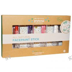 Luna Star Naturals, Pretendi Naturali, All Natural Facepaint Stick Set, Red, Purple, Pink, White, 4 Units, 3 g Per Unit