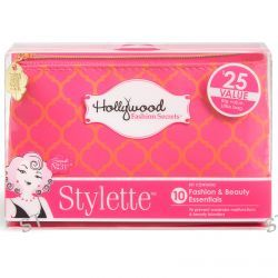Hollywood Fashion Secrets, Stylette, Fashion & Beauty Essentials Kit, Orange/Pink, 1 Kit